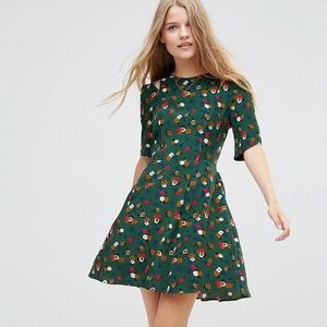 ASOS 40s tea dress in ditsy floral print